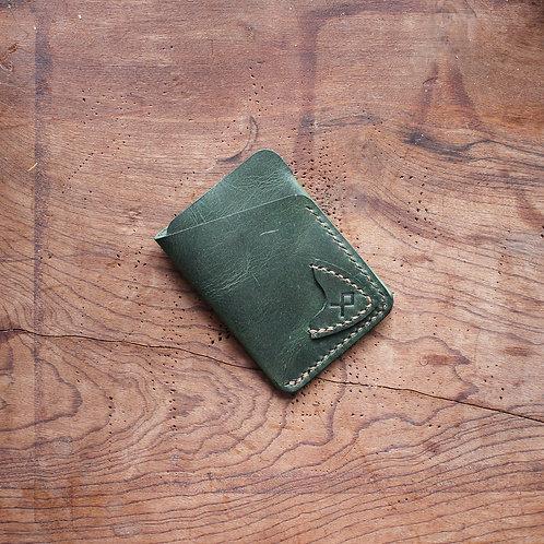 Carteira de couro  Slimwallet Verde com porta palhetas