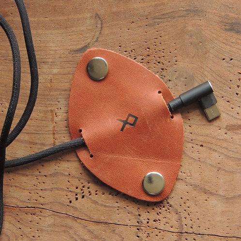 Organizador de cabos em couro Marrom