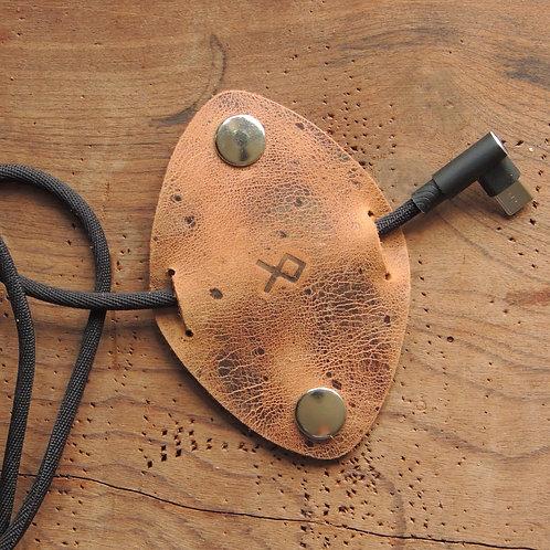 Organizador de cabos em couro Pinhão