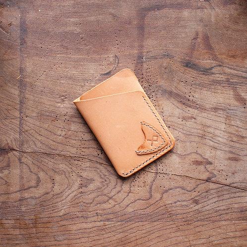 Carteira de couro Slimwallet Mostarda com porta palhetas
