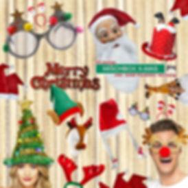 Fotobox Photobooth Weihnachtsfeier mit Druck und Requisiten