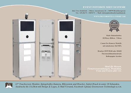 Fotobox Säule für Firmen & Event