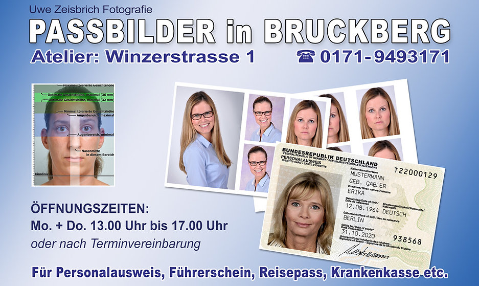 Passbilder & Biometrische Passfotos in Bruckberg Landshut