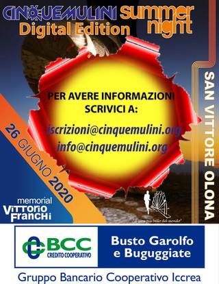 """Cinque Mulini Summer Night """"Digital Edition"""" - Informazioni"""