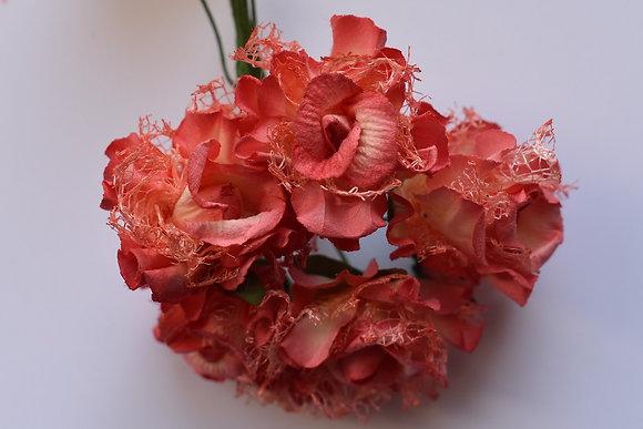 Roses dentelle 3,5cm (x5)