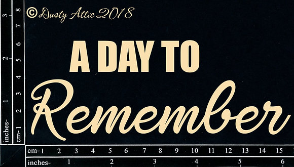 A Day to Rememeber