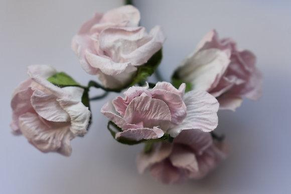 Roses plissées 1,5cm (x5)