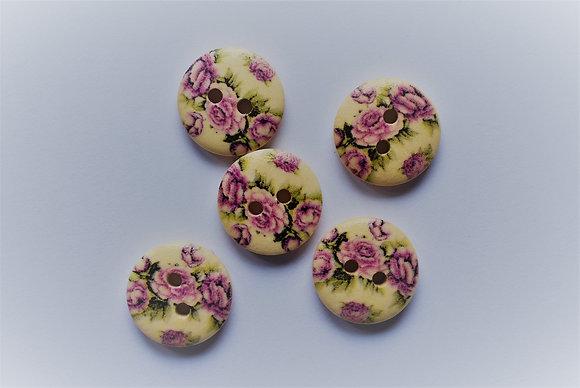 Boutons fleurs x5