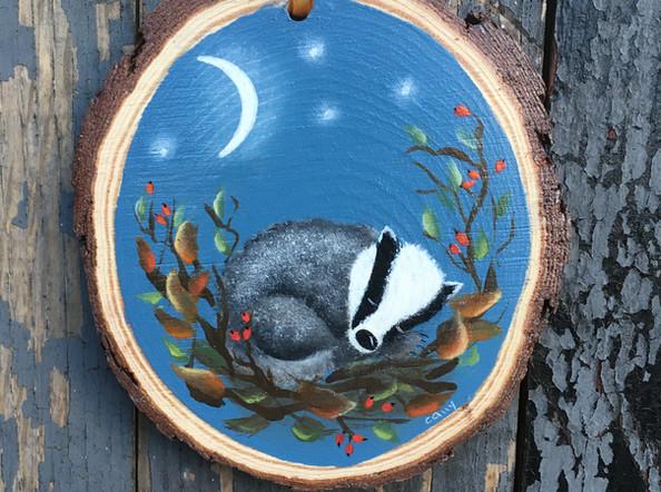 Sleepy Woodland Badger