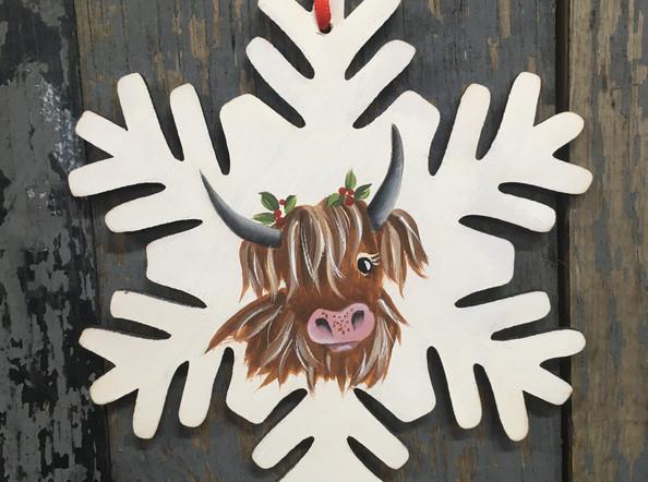 Highland Cow Snowflake