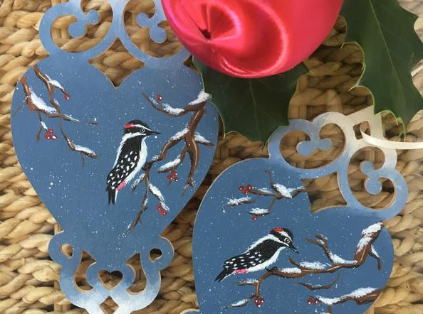 Woodpecker decorations