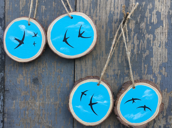 Swifts on Wood Slices