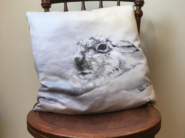 Mountain Hare Vegan Suede Cushion
