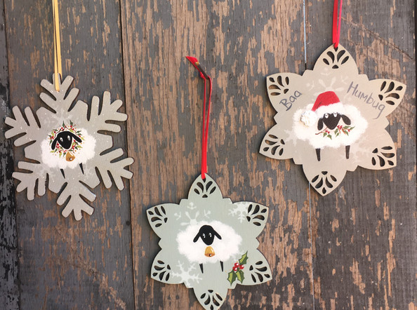 Silly Sheep Christmas decorations