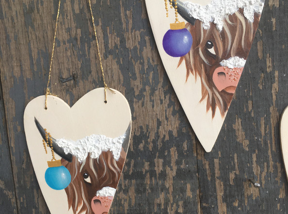 Highland Cow and Bauble
