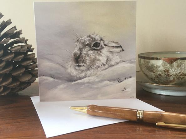 Mountain Hare Blank Card