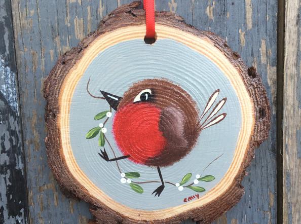 Fat Robin & Mistletoe