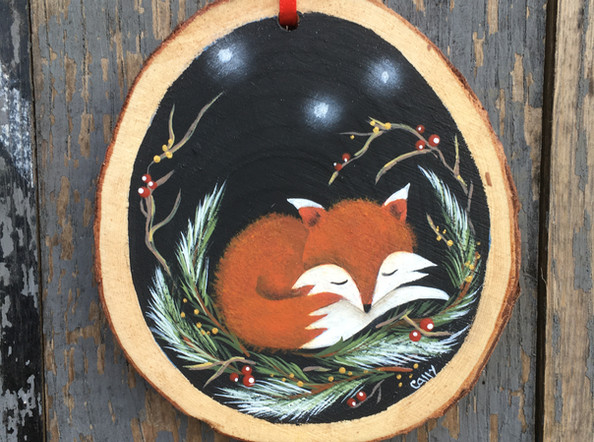 Sleepy woodland fox