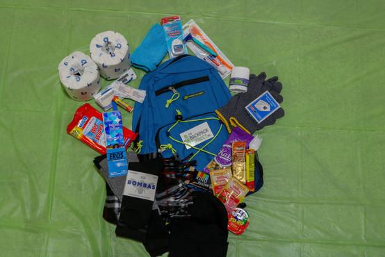 Inside a Backpack