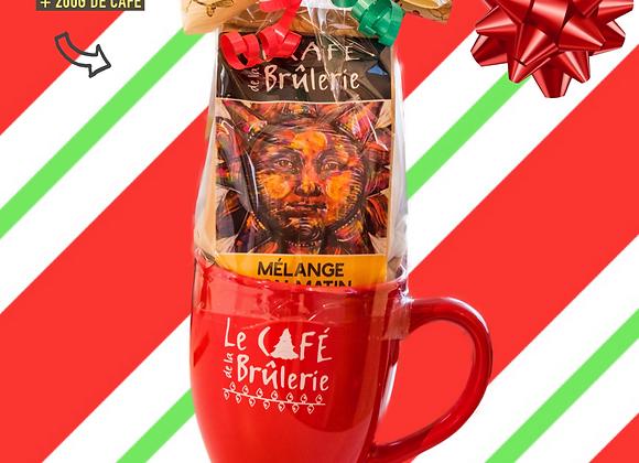 Tasse de Noël et 200g de café Bon Matin