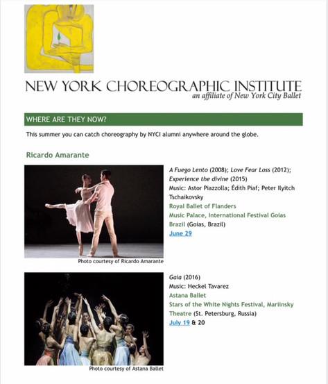 New York City Choreographic Institute