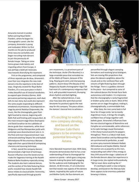Dance Europe review