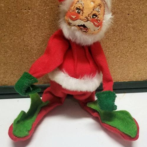 Vintage Annalee Mobilitee Handpainted Santa