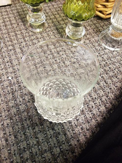 Vintage Crystal Sconce w/ Hobnob Pattern Candle Holder