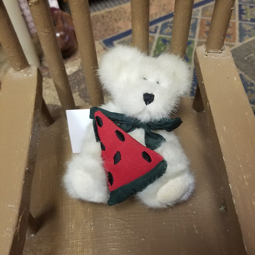 Plush: Boyds Bears Pipley McRind Holding Watermelon Slice