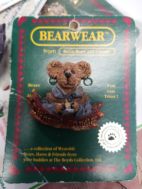 Resin Boyds Bears and Friends Bearwear Pin Brooch