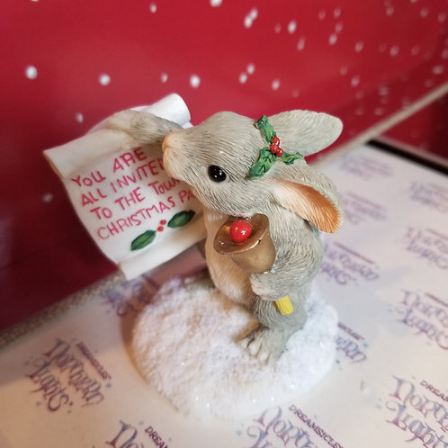 Silvestri Town Crier Charming Tales Bunny Figurine