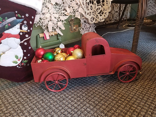 "Retro red farm truck 15"" long"