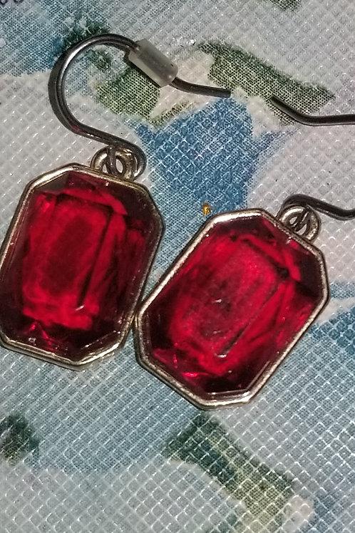 Jewelry: Ruby Red Drop Earrings -pierced