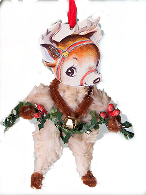 Holiday Ornaments CHENILLE REINDEER ORNAMENTBETHANY LOWE