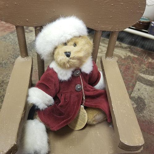 Plush: Boyd's Bear 1998 Bailey Christmas Holiday dress