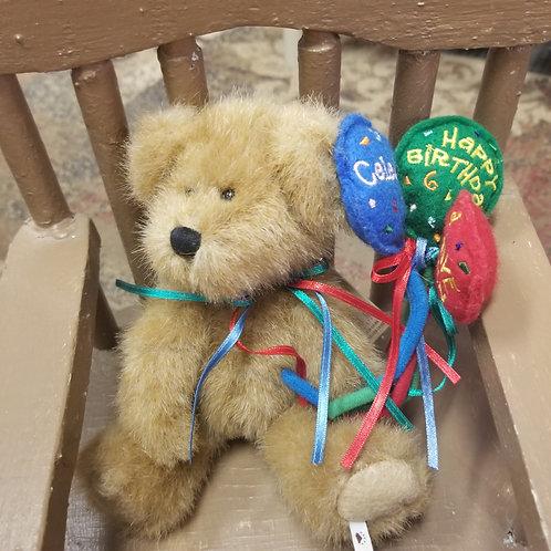 "Plush: Boyd's Bears Head Bean Collection ""Happy"""