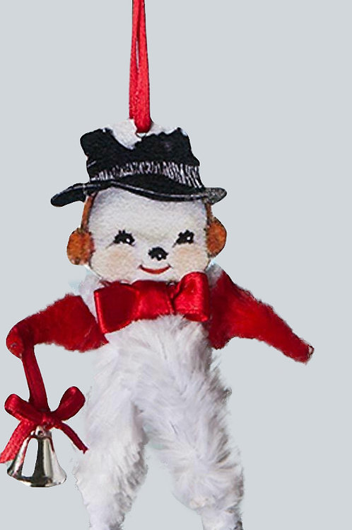 Holiday CHENILLE SNOWMAN ORNAMENT by BETHANY LOWE