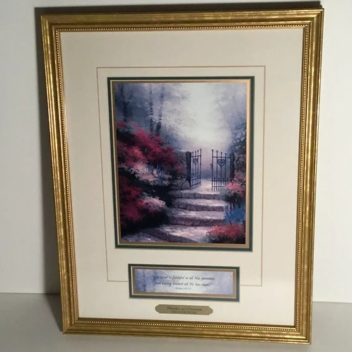 Artwork: Thomas Kinkade 'Garden of Promise' Accent Lithograph Print COA