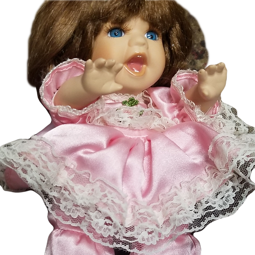 Sweet Little Girl Doll in Crawling Position