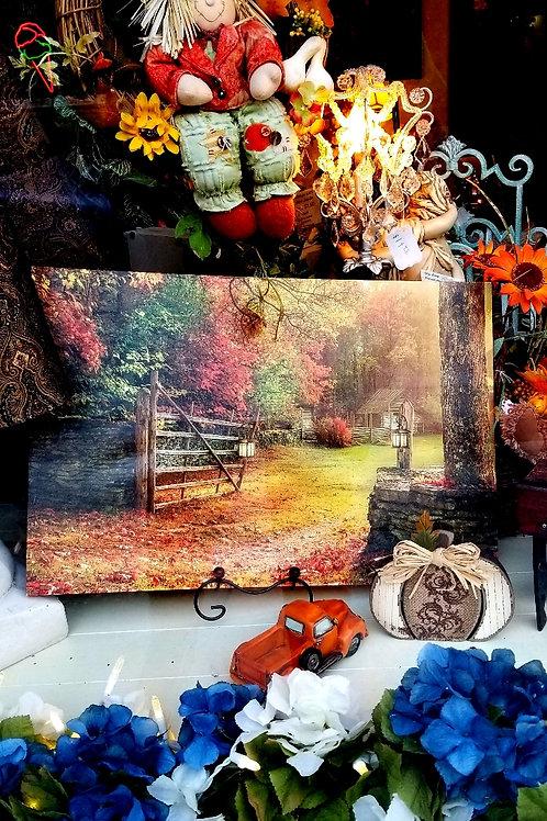 Picture: Light-up Autumn Art Canvas