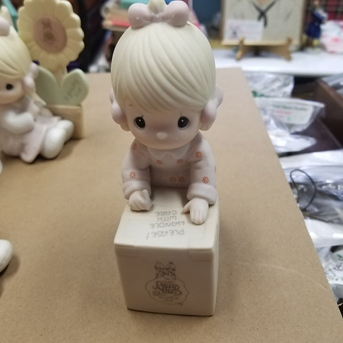 """Figurine: Precious Moments 1987 """"Sharing is Universal"""" Collectors Club"""