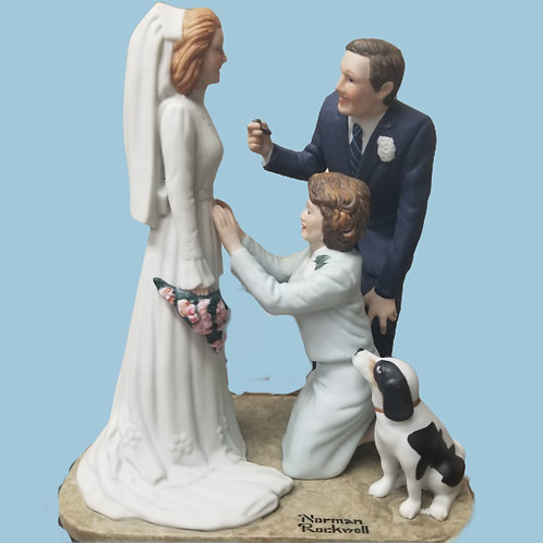 "Vintage Norman Rockwell ""Bride To Be"" Porcelain Figurine 1980 Danbury Mint"