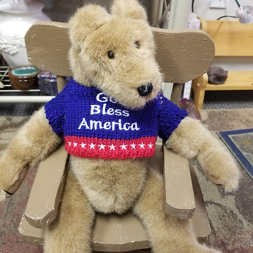 "Plush: Vintage Boyd's Bear- ""God Bless America"""