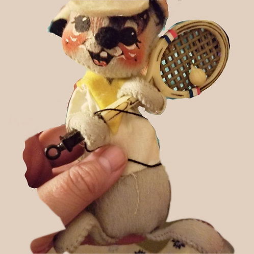 Vintage Annalee Mobilitee Handpainted Tennis Player Mouse