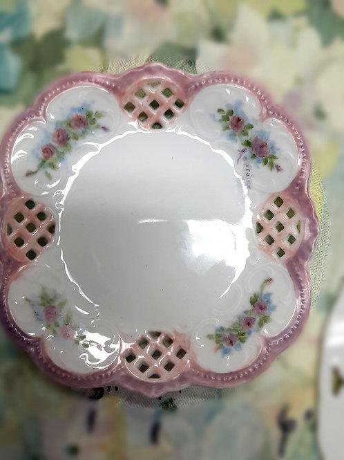 Dish: Vintage hand-signed trinket dish