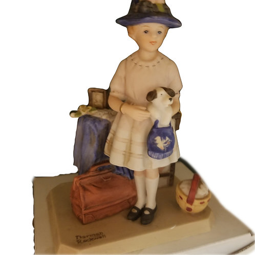 "Norman Rockwell ""Vacation's Over"" Museum Collection Figurine"