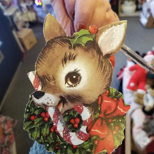 Vintage Reindeer Face Bucket by BETHANY LOWE