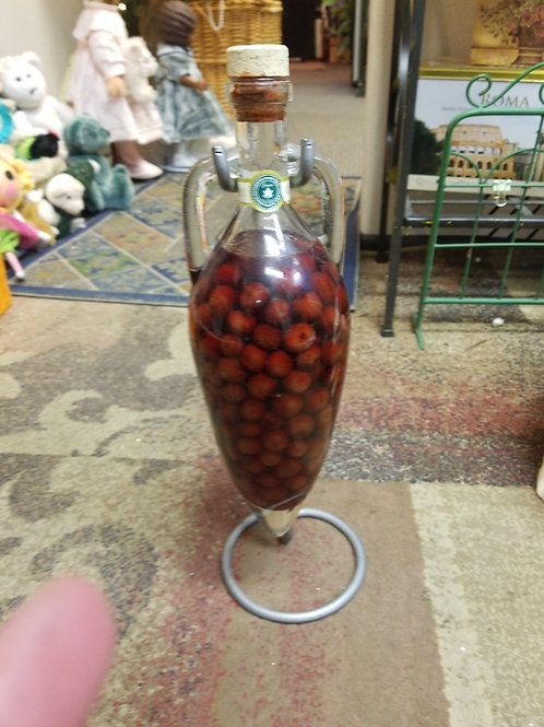Vintage Shonefield's Authentic Cherry Vinegar with Stand
