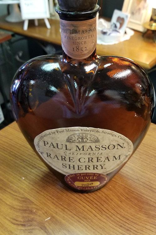 Bottle: Amber heart-shaped liquor bottle