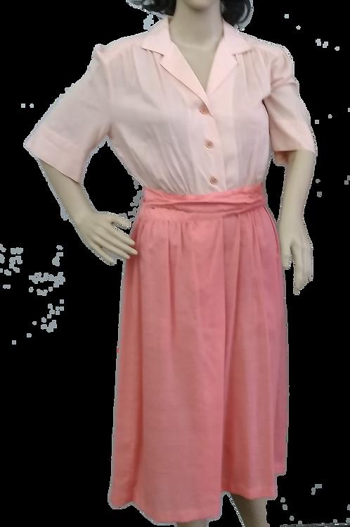 Vintage Women's 1940's Style Shirt-Waist Dress